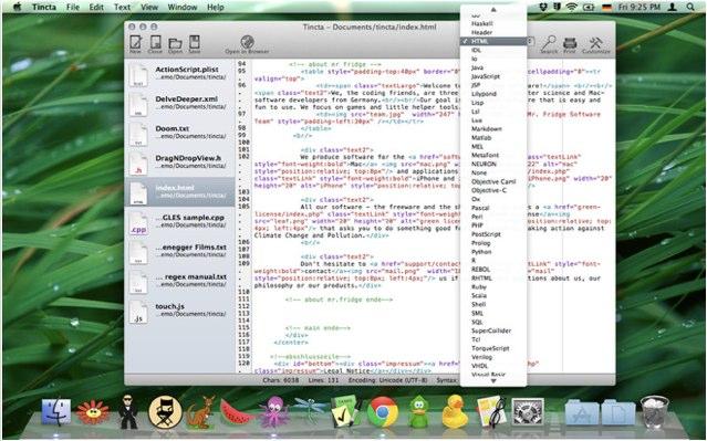 Test tincta pour mac