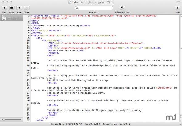 Fraise éditeur de textes Mac